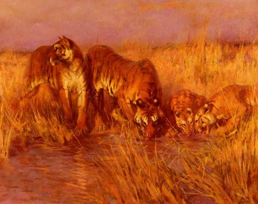 Артур Уордл. Тигры у воды