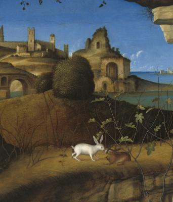 Giovanni Bellini. Saint Jerome reading. Fragment