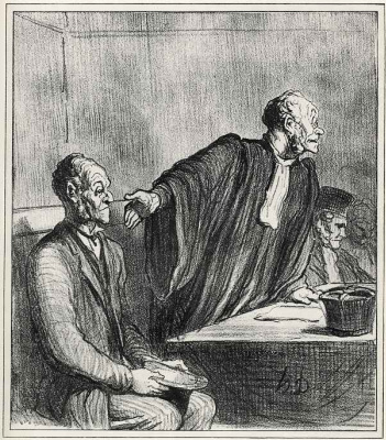 """Honore Daumier. """"My wife cheated, again deceived, angioplasty..."""""""