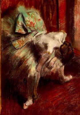 Edgar Degas. Dancer in green tutu