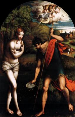 Франческо Пармиджанино. Крещение Христа
