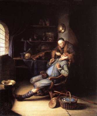 Gerrit (Gerard) Dow. Tooth extraction