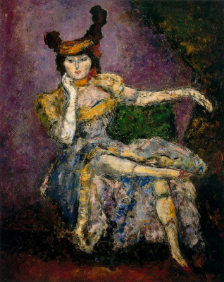 Arturo Souto. Seated girl