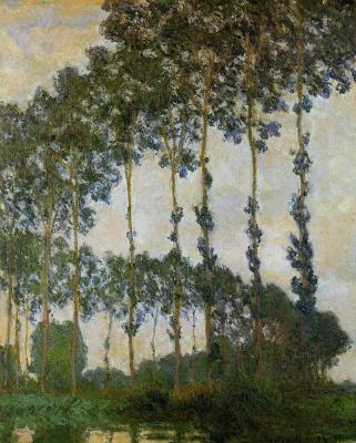 Claude Monet. Poplars at Giverny