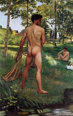 Frédéric Bazille. A fisherman with a network