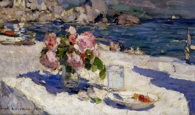 Konstantin Korovin. On the shore of the sea.