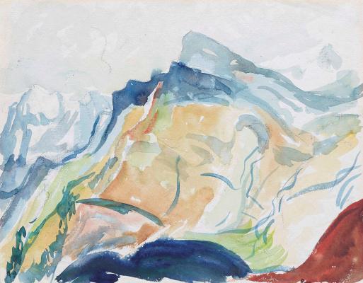 Giovanni Giacometti. Mountain landscape, Bergel