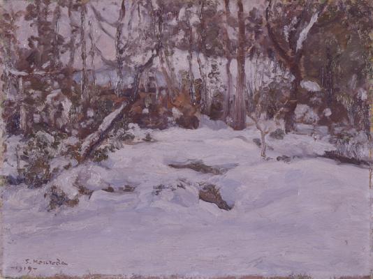 Курода Сейки. Заснеженный пейзаж