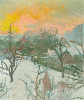 Cuno Amiè. Winter dawn