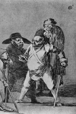 "Francisco Goya. ""Understand? That all was on-to mine, do you hear? And not..."" (Series ""Caprichos"", page 76)"