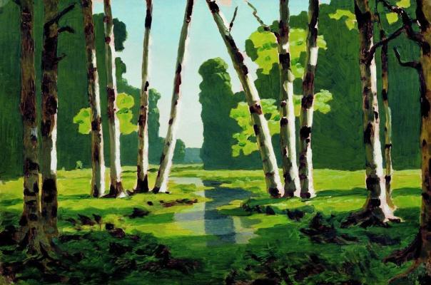 Arkhip Ivanovich Kuindzhi. The birch grove. Option-sketch to the