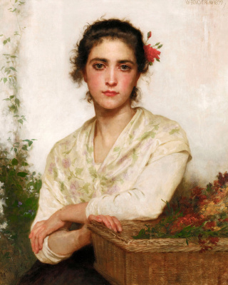Вильям Адольф Бугро. Продавщица цветов
