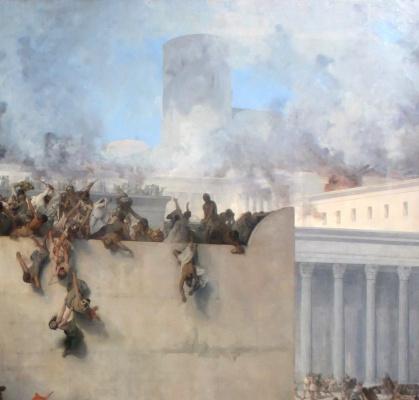Francesco Ayets. The destruction of the temple of Jerusalem. Fragment