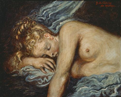 Giorgio de Chirico. Portrait of a young girl