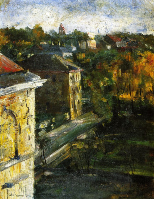 Lovis Corinto. The view from the Studio window