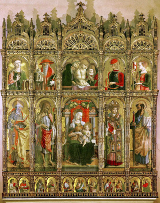 Carlo Crivelli. The Central altar of the Cathedral of Ascoli, polyptych, General view