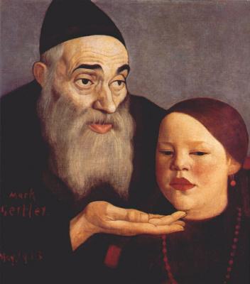 Марк Гертлер. Раввин с внуком
