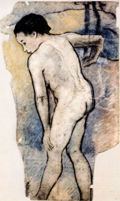Paul Gauguin. Bathing boy-Breton