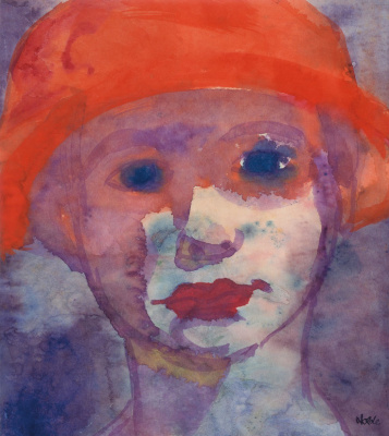 Emil Nolde. Girl in a red hat