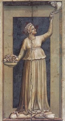 Giotto di Bondone. Mercy. Seven virtues
