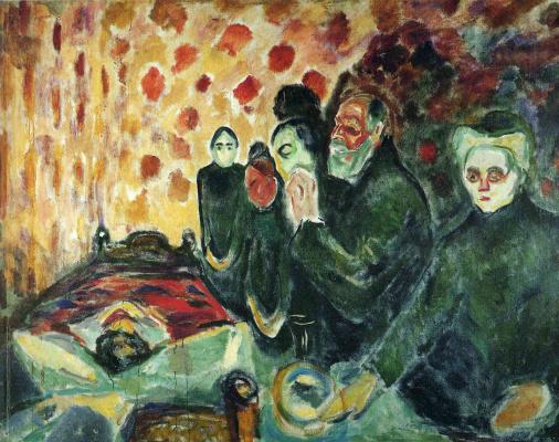 Edvard Munch. At the deathbed (Fever) I