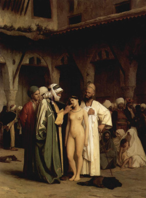Jean-Leon Jerome. Slave market