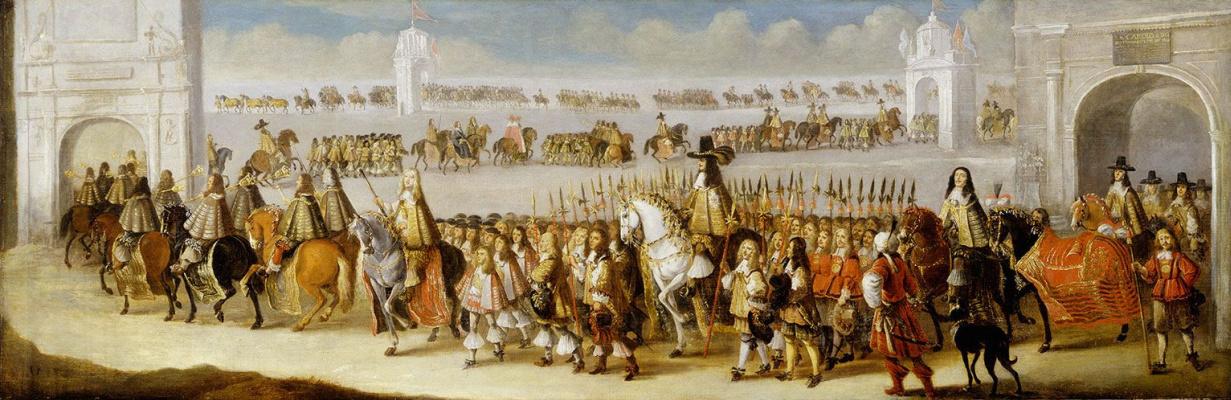 Дирк Ступ. Шествие Карла ІІ по Лондону 22 апреля 1661 года