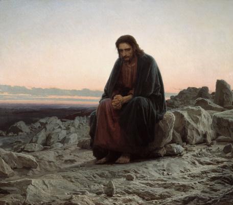 Ivan Nikolayevich Kramskoy. Christ in the desert