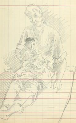 Александр Васильевич Шевченко. Отец с ребенком. Нач. 1920-е