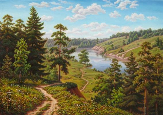 Андрей Никонорович Сутин. The path to the river.