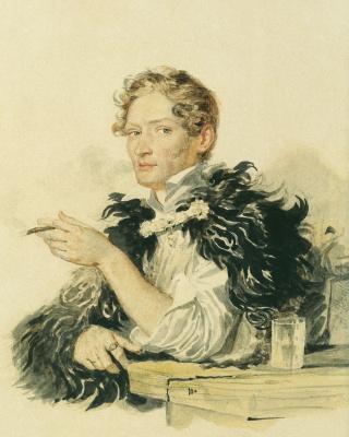 Александр Павлович Брюллов. Портрет А. Перовского. 1830-е