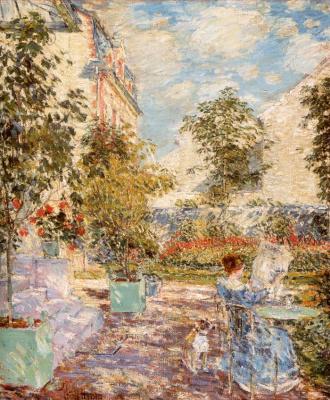 Чайльд Гассам. Во французском саду