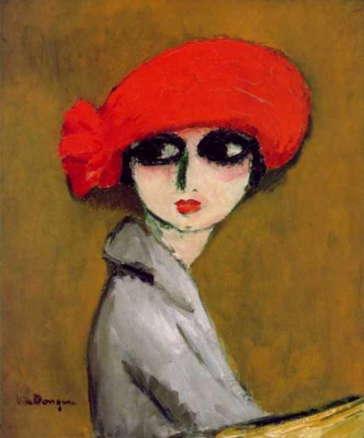 Kees Van Dongen. Poppy in wheat field