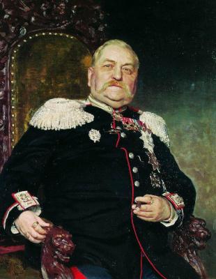 Ilya Efimovich Repin. Portrait of a military engineer A. Delvig I.