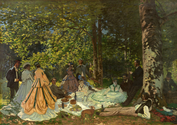Claude Monet. Luncheon on the Grass