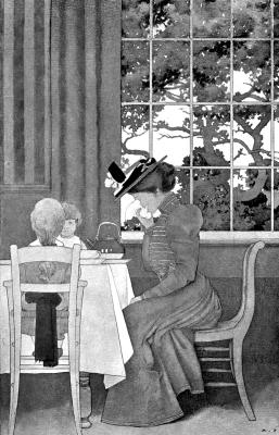 """Максфилд Пэрриш. """"Золотой век"""". Мисс Смедли за завтраком"""