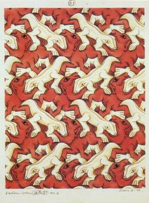 Maurits Cornelis Escher. Two Creatures (No. 61)