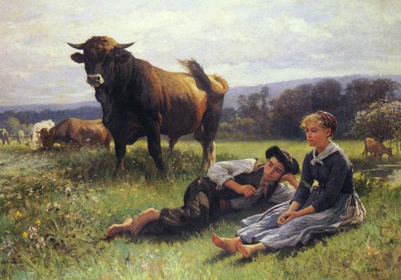 Эдуард Бернар Деба-Понсан. Покой пастухов