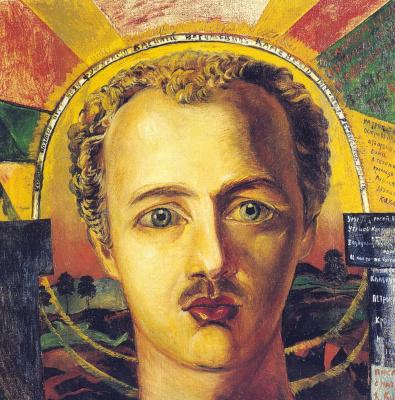 David Davidovich Burliuk. Portrait of the futurist poet V. A. Kamensky