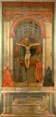 Томмазо Мазаччо. Святая Троица с Девой и Св. Джоном