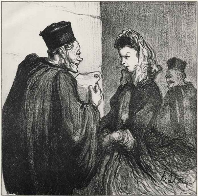 Honore Daumier. Your infidelity