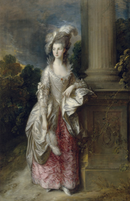 Thomas Gainsborough. Portrait of Mrs. Mary Graham