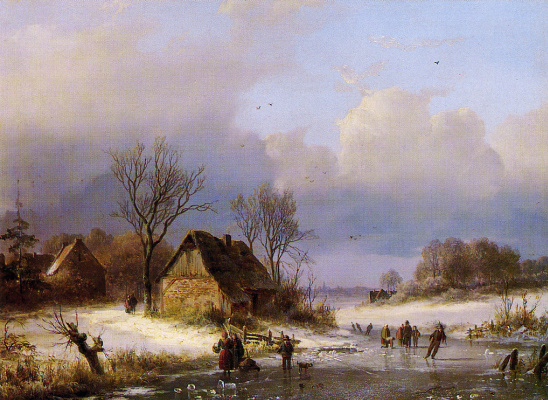 Иоганн Бернард Кломбекк. Зимний пейзаж