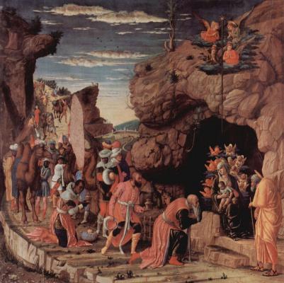 Andrea Mantegna. The altar of the Palace chapel of the Duke of Mantua, scene Adoration of the Magi
