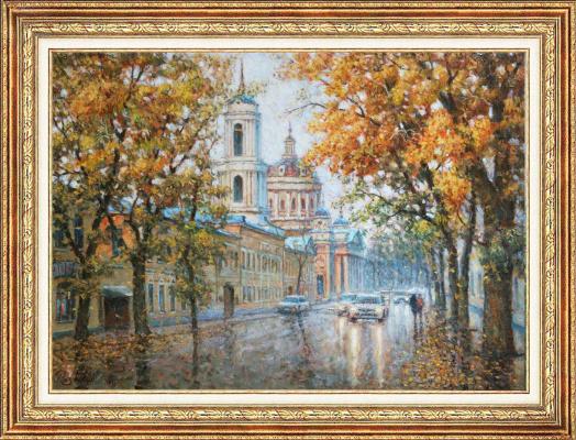 Igor Razzhivin. Falling leaves in the city