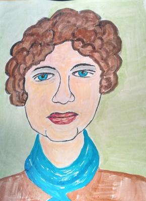 Irina Alexandrovna Sokolova. The blue scarf.