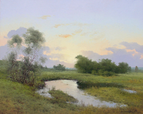 Vasily Ivanovich Gribennikov. Morning silence