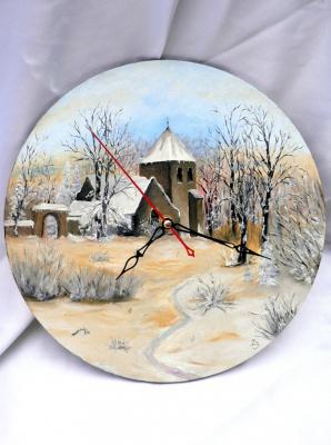 Сергей Николаевич Ходоренко-Затонский. Picture with a clock
