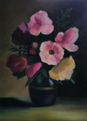 Irene Poddubnaya. Цветы на темном
