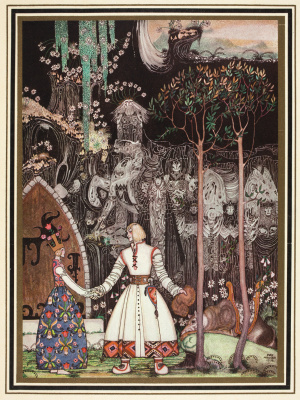 "Kay Nielsen. Illustration of the collection of fairy tales ""East of the sun West of the moon"""